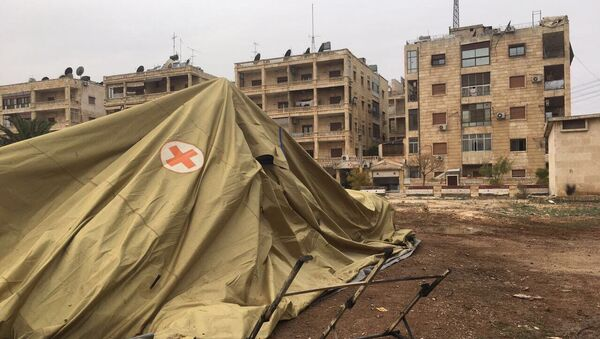 Terroryści z tzw. umiarkowanej syryjskiej opozycji zaatakowali rosyjski szpital mobilny w Aleppo. - Sputnik Polska
