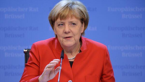 Kanclerz Niemiec Angela Merkel na szczycie UE w Brukseli - Sputnik Polska