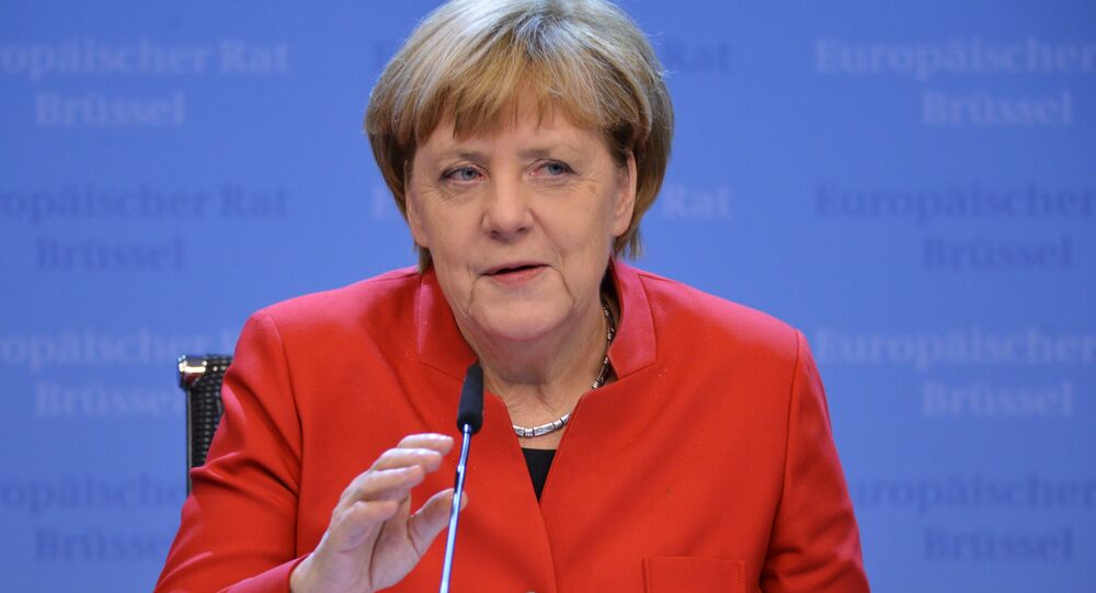 Kanclerz Niemiec Angela Merkel na szczycie UE w Brukseli