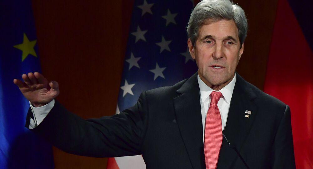 Sekretarz USA John Kerry w Berlinie