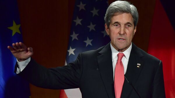 Sekretarz USA John Kerry w Berlinie - Sputnik Polska