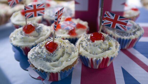Babeczki z flagami Wielkiej Brytanii - Sputnik Polska