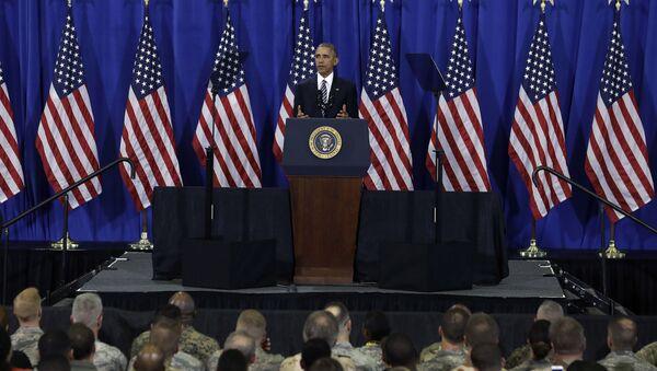 Prezydent USA Barack Obama wygłasza przemówienie do wojskowych w Tampa, stan Floryda, USA - Sputnik Polska