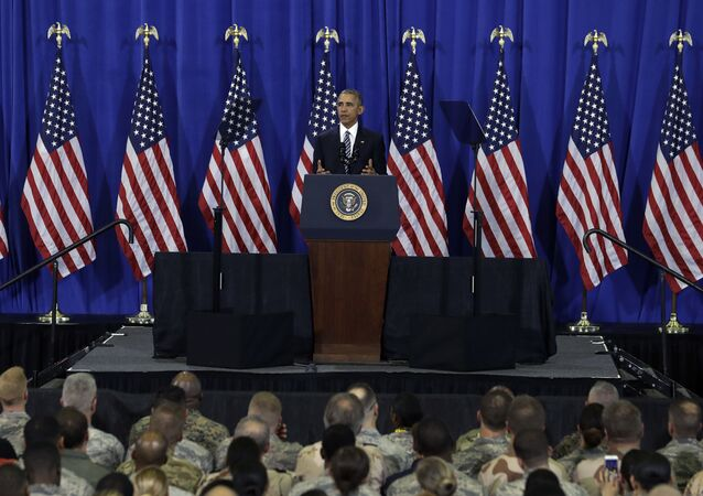 Prezydent USA Barack Obama wygłasza przemówienie do wojskowych w Tampa, stan Floryda, USA