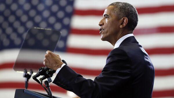 Prezydent USA Barack Obama wygłasza przemówienie w bazie lotniczej MacDill w Tampie, Floryda - Sputnik Polska
