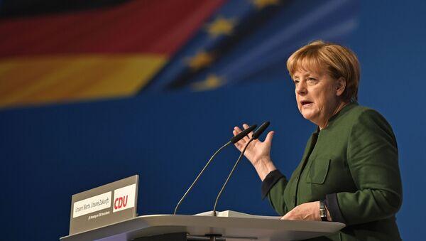 Angela Merkel. Zjazd Unii Chrześcijańsko-Chadeckiej - Sputnik Polska