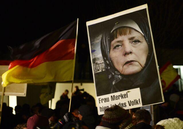 Demonstracja przeciwko islamizacji Europy, Drezno, Niemcy