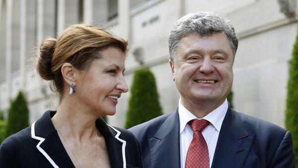Petro Poroszenko z żoną Maryną - Sputnik Polska