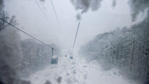 Wyciąg w górach  - Sputnik Polska