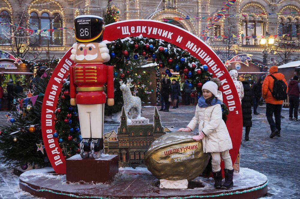 Jarmark przy GUM-ie na Placu Czerwonym w Moskwie