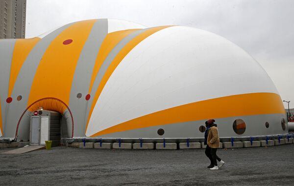 Centrum przyjmowania uchodźców w Paryżu - Sputnik Polska