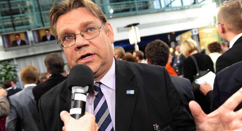 Minister spraw zagranicznych Finlandii Timo Soini