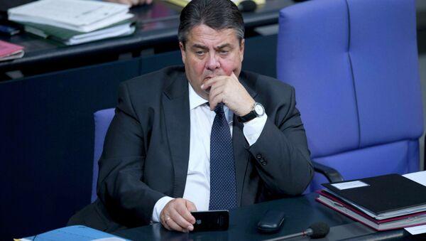Wicekanclerz Niemiec, minister gospodarki i technologii, lider Socjaldemokratycznej Partii Niemiec Sigmar Gabriel - Sputnik Polska
