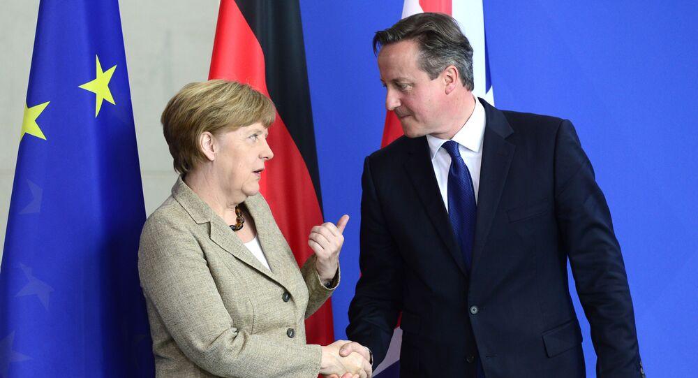 Kanclerz Niemiec Angela Merkel i premier Wielkiej Brytanii David Cameron