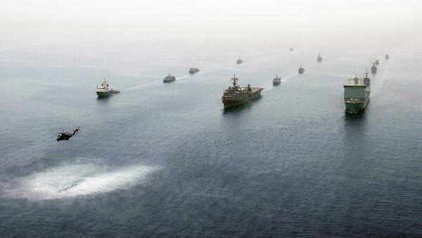Okręty amerykańskie w Zatoce Perskiej - Sputnik Polska