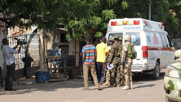 Co najmniej 3 osoby zginęły, a 17 zostało rannych w samobójczym ataku dwóch dziewczynek na rynku w mieście Maiduguri na północnym wschodzie Nigerii - Sputnik Polska