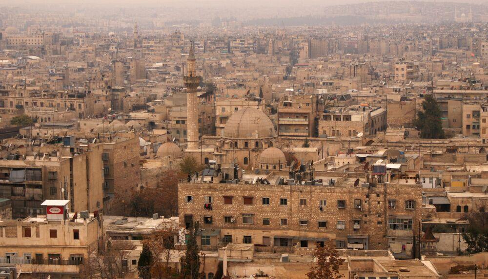 Panorama historycznego centrum Aleppo w 2009 roku