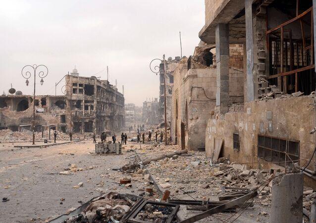 Zniszczone wojną Aleppo