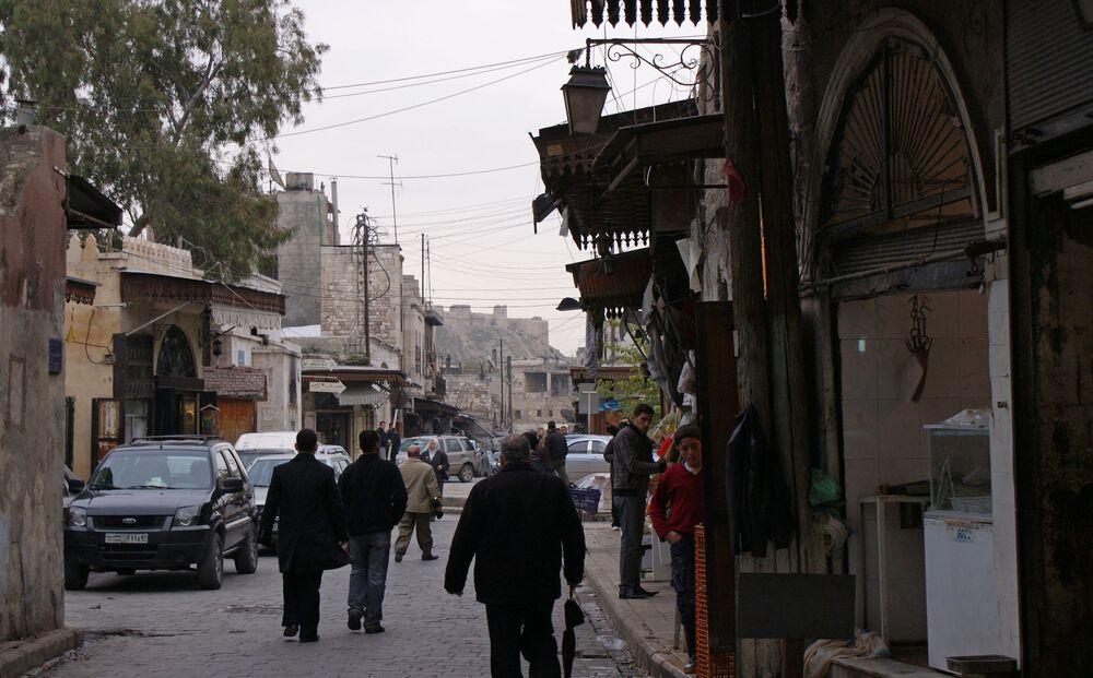 Ulica w historycznym centrum Aleppo w 2009 roku