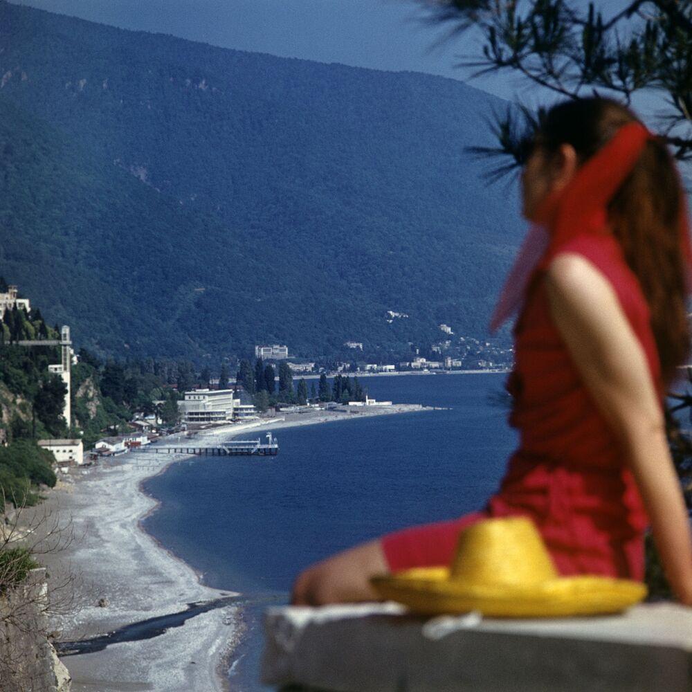Wybrzeże czarnomorskie w Abchazji, 1974 rok
