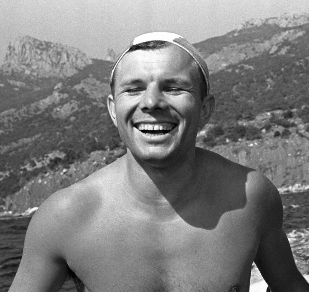 Jurij Gagarin podczas urlopu w Krymie, 1961 rok