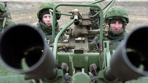 Rosyjska przeciwlotnicza wyrzutnia rakietowa podczas ćwiczeń wojskowych wojsk Południowego Okręgu Południowego - Sputnik Polska