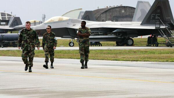 Amerykańscy wojskowi w bazie lotniczej Kadena w Japonii - Sputnik Polska