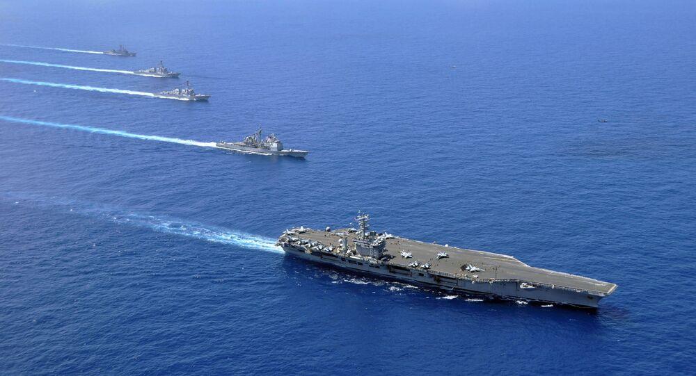 Grupa lotniskowa floty Marynarki Wojennej USA na Morzu Południowochińskim
