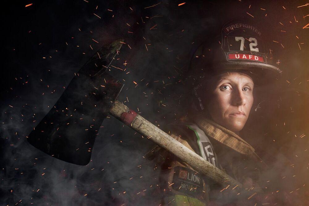 Strażaczka pracująca w amerykańskim stanie Ohio