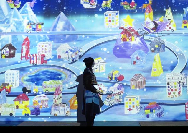 Japońska świąteczna instalacja