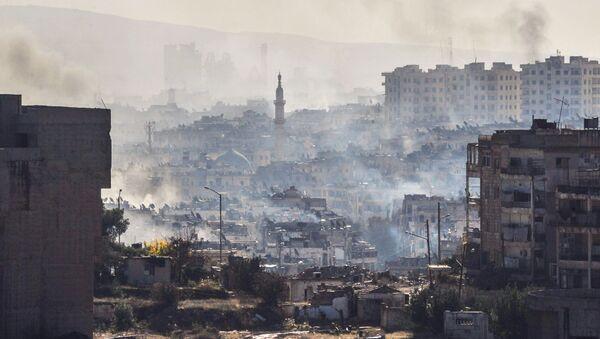 Aleppo podczas operacji wyzwalania miasta od terrorystów - Sputnik Polska