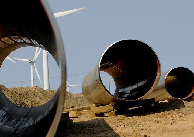 Rury go gazociągu OPAL w Niemczech