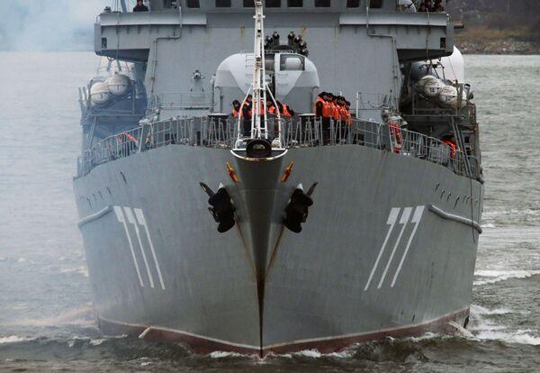 Do portu wojskowego w Bałtyjsku zawitał okręt patrolowy Jarosław Mudry - Sputnik Polska