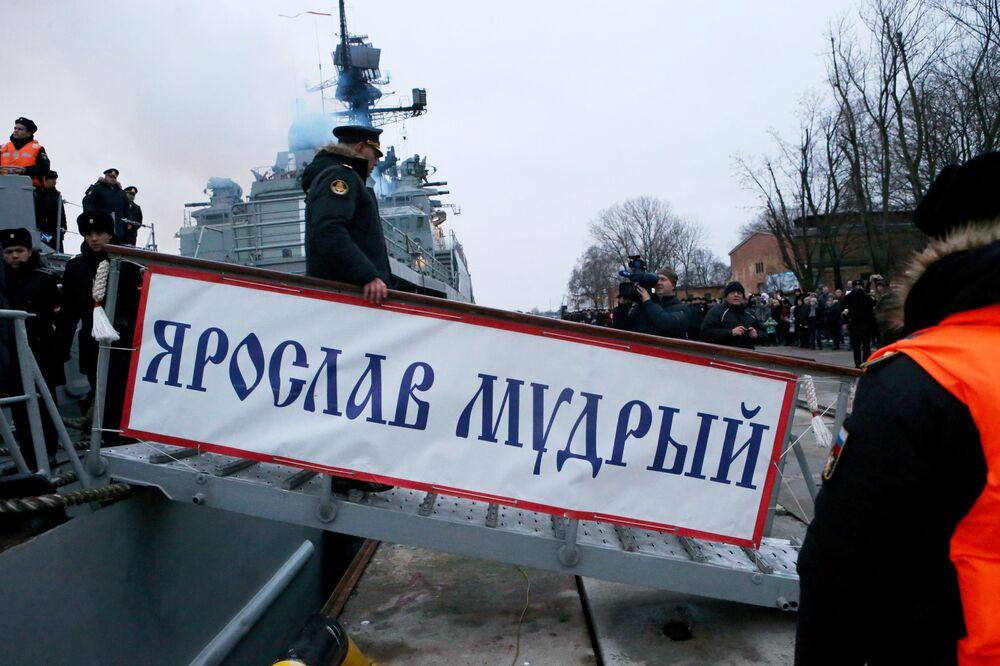 Do portu wojskowego w Bałtyjsku zawitał okręt patrolowy Jarosław Mudry