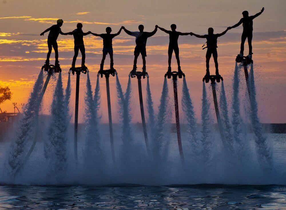 Mistrzostwa Rosji we flyboardzie w Sewastopolu