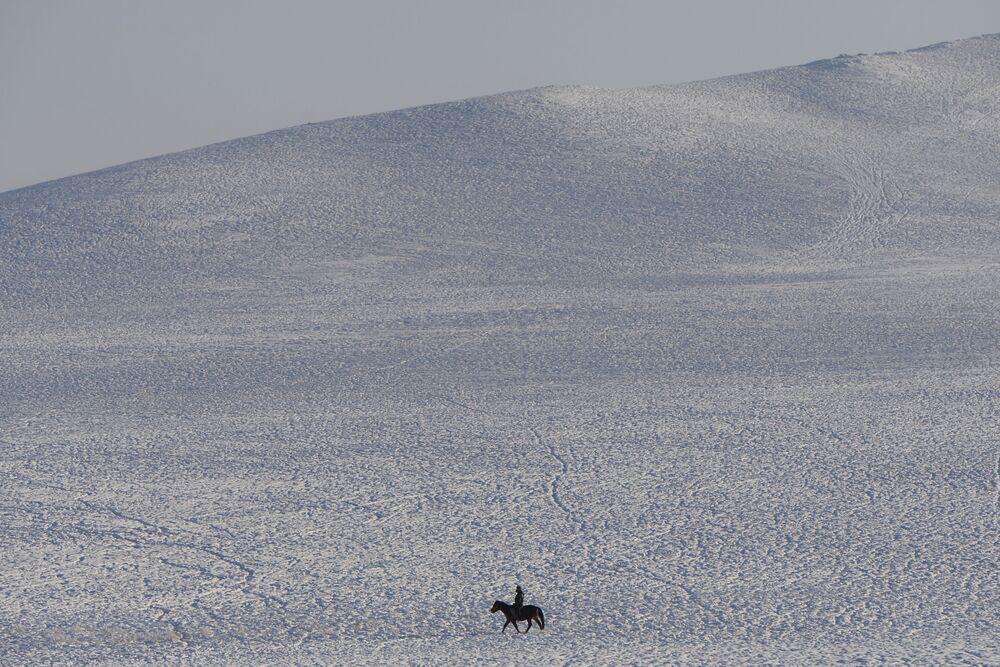 Zimowe postoje pasterzy w Republice Tuwy