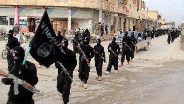 Członkowie ISIL w Rakce, Syria - Sputnik Polska