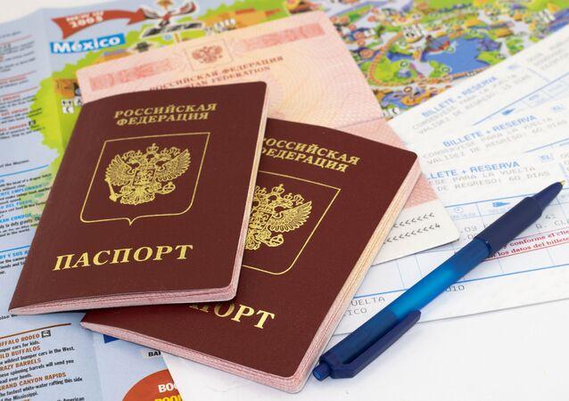 Paszporty i mapa
