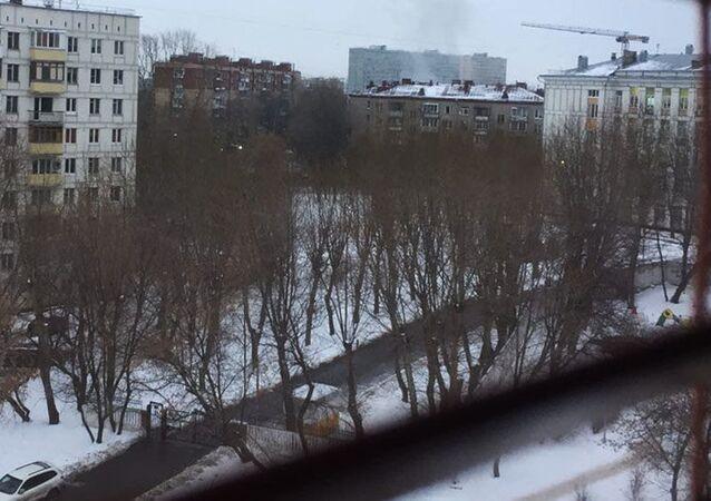 Dym na stacji metro Kolomenskaya, 22 grudnia 2016