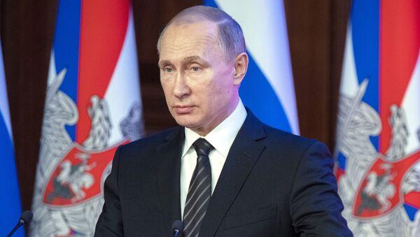 Prezydent Rosji Władimir Putin na posiedzeniu Ministerstwa Obrony Rosji - Sputnik Polska