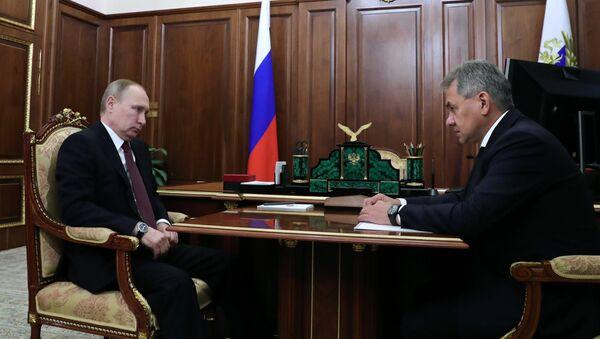 W. Putin spotkał się z Ministrem Obrony Rosji S. Szojgu - Sputnik Polska