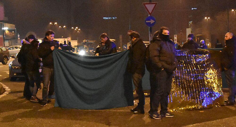 Włoska policja koło ciała zastrzelonego Anisa Amri