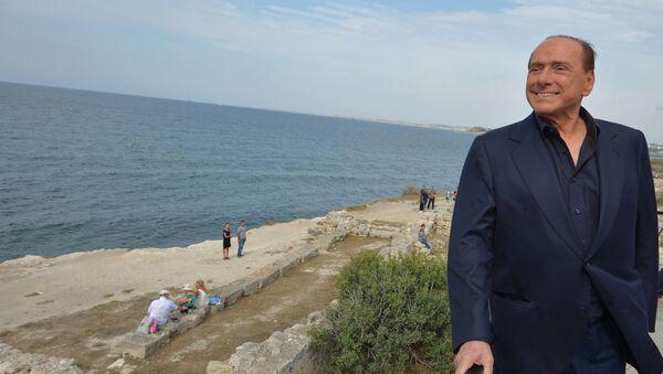Silvio Berlusconi na Krymie - Sputnik Polska