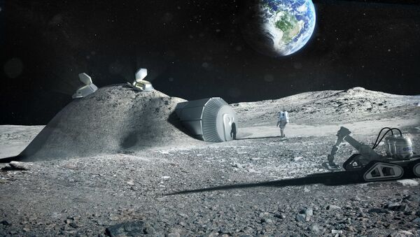 Projekt bazy księżycowej - Sputnik Polska