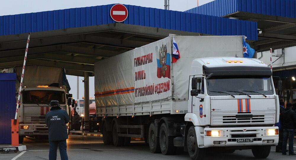 Rosyjska pomoc humanitarna dla mieszkańców Donbasu