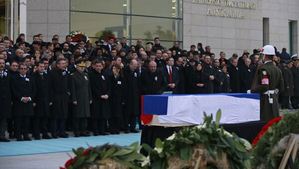 Pogrzeb ambasadora Rosji w Ankarze Andrieja Karłowa - Sputnik Polska