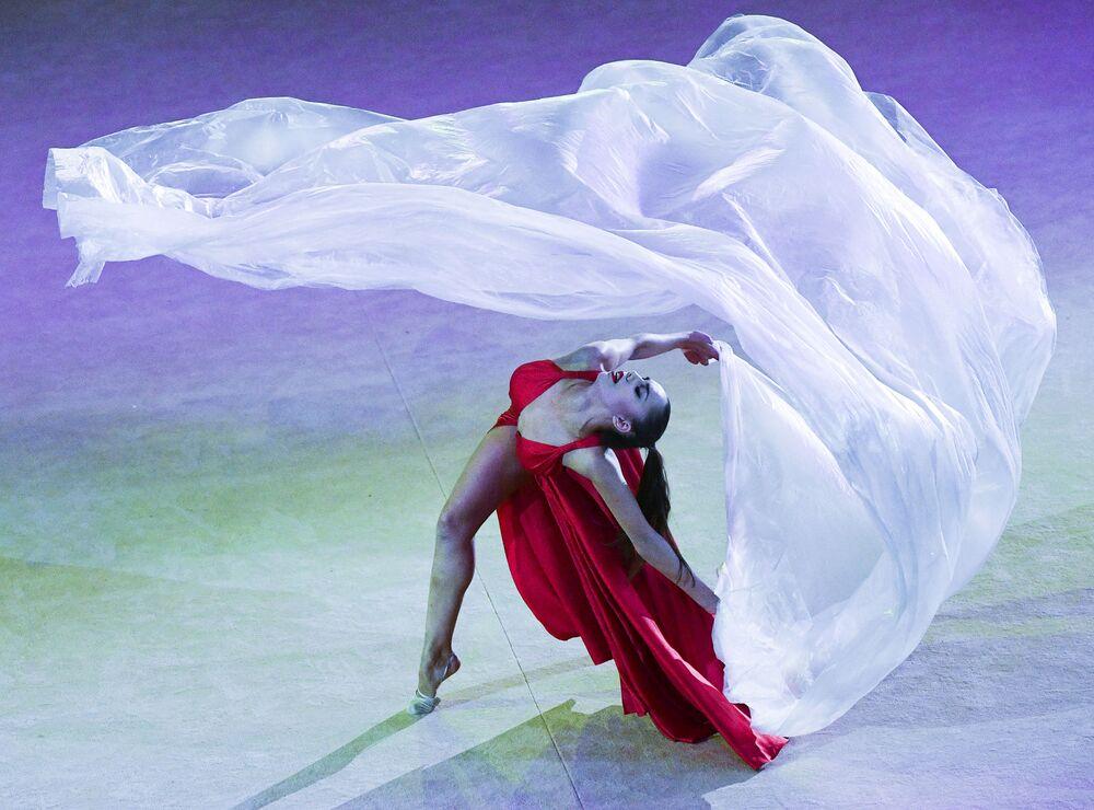 Rosyjska gimnastyczka Margarita Mamun.