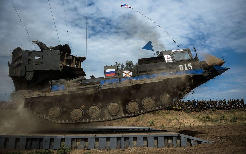 Zawody w ramach Międzynarodowych Igrzysk Wojskowych w obwodzie wołgogradzkim.