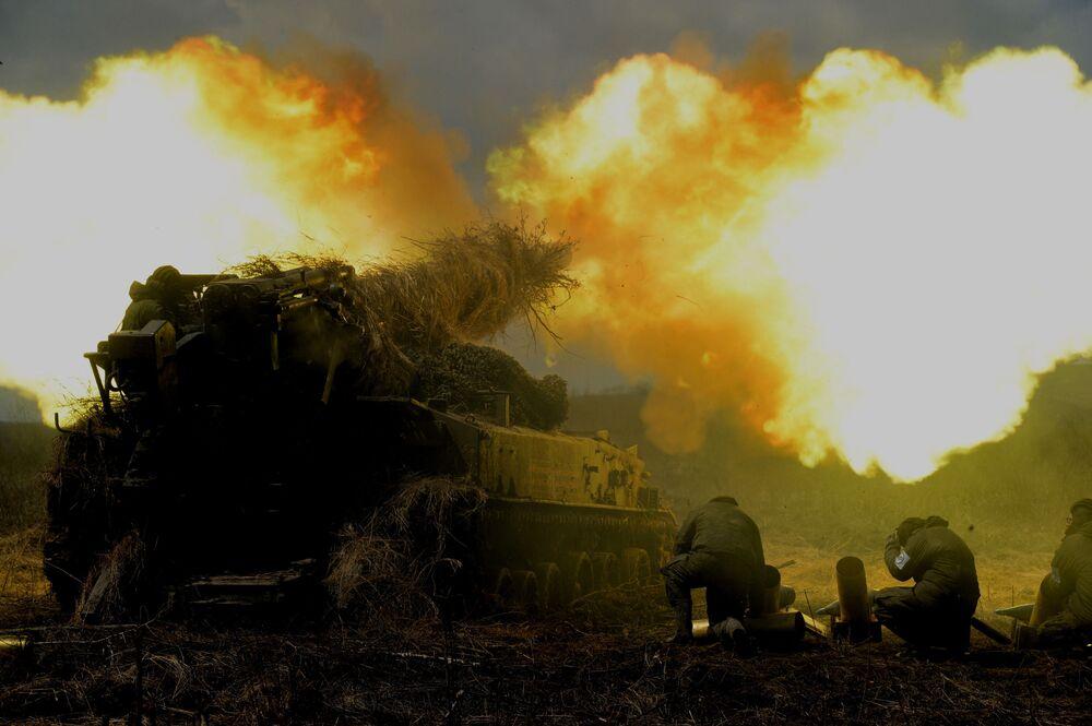 Ćwiczenia taktyczne 5. armii ogólnowojskowej Wschodniego Okręgu Wojskowego.