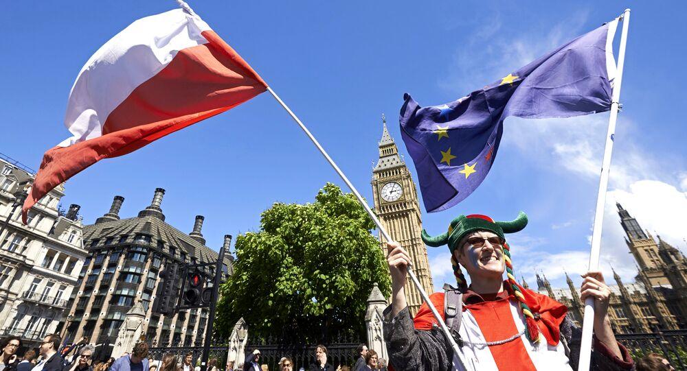 Londyn, protest przeciwko Brexit
